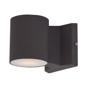 Lightray Architectural Bronze 4-Inch High LED Round Wall Sconce