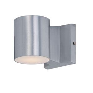 Lightray Brushed Aluminum LED Round Wall Sconce