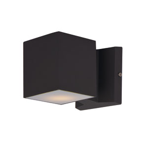 Lightray Architectural Bronze 4-Inch High LED Square Wall Sconce