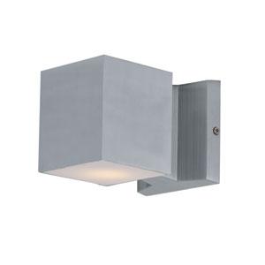 Lightray Brushed Aluminum LED Square Wall Sconce