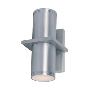 Lightray Brushed Aluminum 10.5-Inch High LED Wall Sconce