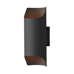 Lightray LED Architectural Bronze Six-Inch Two-Light LED Outdoor Wall Mount