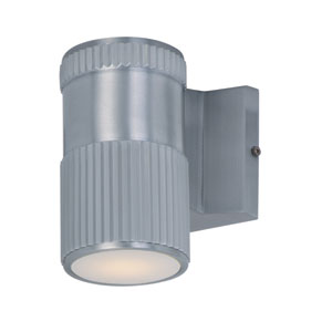 Lightray Brushed Aluminum 6.5-Inch High LED Round Wall Sconce