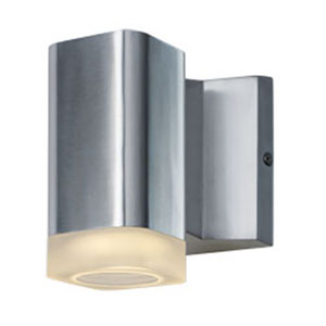 Lightray Brushed Aluminum LED One-Light Five-Inch Outdoor Wall Mount