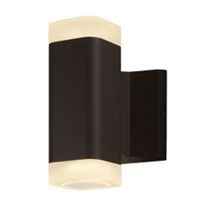Lightray Architectural Bronze LED Two-Light Seven-Inch Outdoor Wall Mount