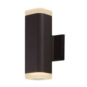 Lightray Architectural Bronze LED Two-Light 10-Inch Outdoor Wall Mount