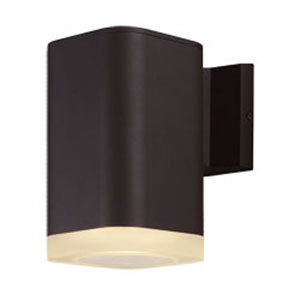Lightray Architectural Bronze LED One-Light Eight-Inch Outdoor Wall Mount