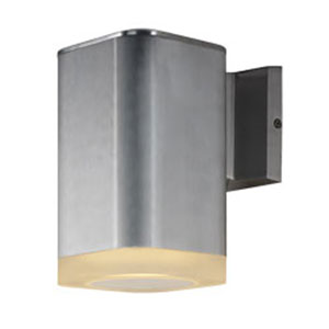Lightray Brushed Aluminum LED One-Light Eight-Inch Outdoor Wall Mount