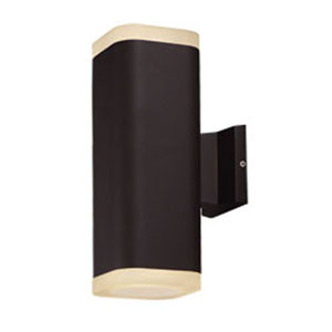 Lightray Architectural Bronze LED Two-Light 13-Inch Outdoor Wall Mount