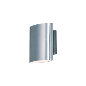 6d5eb826dab Lightray LED Brushed Aluminum Seven-Inch Two-Light LED Outdoor Wall Mount