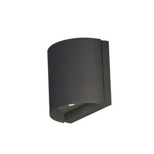 Lightray LED Architectural Bronze Five-Inch Two-Light LED Outdoor Wall Mount