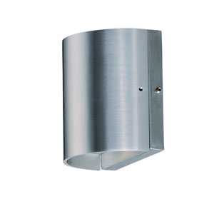 5cdd1e9a280 Lightray LED Brushed Aluminum Five-Inch Two-Light LED Outdoor Wall Mount