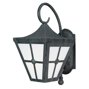 Castille Country Forge 17-Inch High One-Light Fluorescent Outdoor Wall Mount