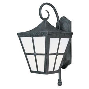 Castille Country Forge 24-Inch High One-Light Fluorescent Outdoor Wall Mount