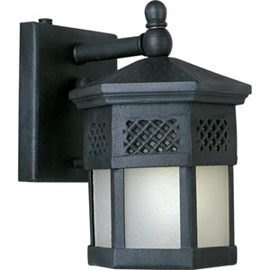 Scottsdale EE Fluorescent Country Forge 6-Inch Wide One-Light Outdoor Wall Mount