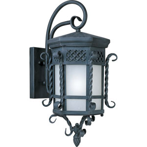 Scottsdale EE Fluorescent Country Forge 11.75-Inch Wide One-Light Outdoor Wall Mount