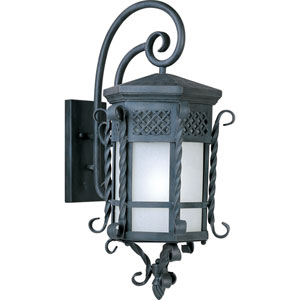 Scottsdale EE Fluorescent Country Forge 13.5-Inch Wide One-Light Outdoor Wall Mount