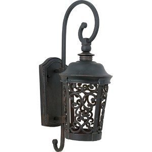 Whisper Dark Sky EE Fluorescent Bronze 8-Inch Wide One-Light Outdoor Wall Mount