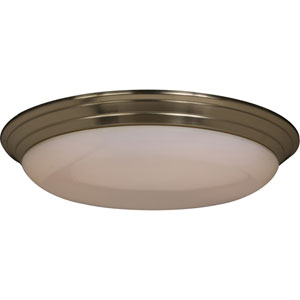 Satin Nickel Medium Flush Mount Ceiling Light