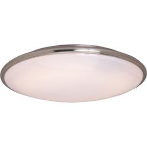 Satin Nickel 21-Inch Slimline Flush Mount Ceiling Light