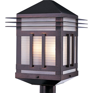 Gatsby Burnished Amber Outdoor Post Mount