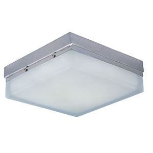Illuminare LED Satin Nickel One-Light Flush Mount with Frosted White Glass