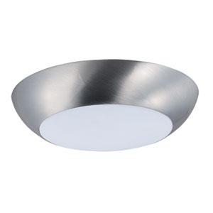 Diverse LED Satin Nickel One-Light Flushmount