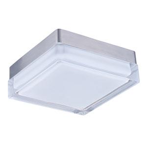 Illuminaire LED Satin Nickel One-Light Seven-Inch Flushmount