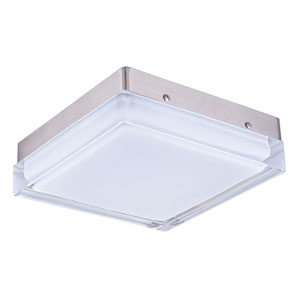 Illuminaire LED Satin Nickel One-Light Ten-Inch Flushmount