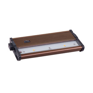 CounterMax MX-L120DC Metallic Bronze 7-Inch 3000K 2-LED Under Cabinet