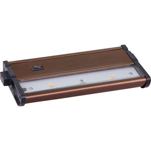 CounterMax MX-L120DC Metallic Bronze 7-Inch 2700K 2-LED Under Cabinet