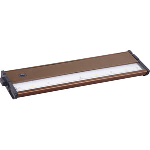 CounterMax MX-L120DC Metallic Bronze 13-Inch 2700K 4-LED Under Cabinet