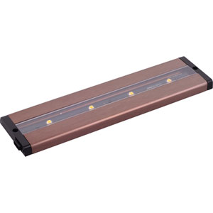 CounterMax MX-L-LPC Anodized Bronze 12-Inch Four-Light LED Under Cabinet