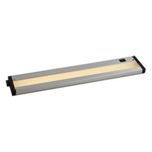 CounterMax Brushed Aluminum LED One-Light 18-Inch Under Cabinet