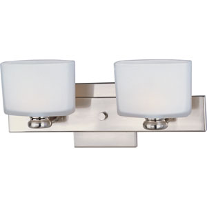 Essence Satin Nickel Two-Light Bath Fixture