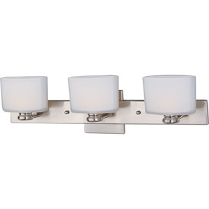 Essence Satin Nickel Three-Light Bath Fixture