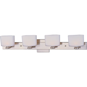 Essence Satin Nickel Four-Light Bath Fixture
