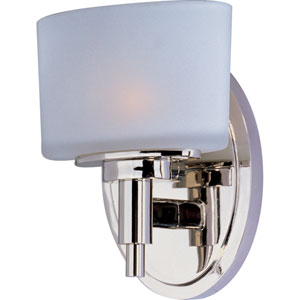 Lola Polished Nickel One-Light Wall Sconce
