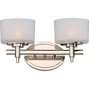 Lola Polished Nickel Two-Light Bath Fixture