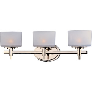 Lola Polished Nickel Three-Light Bath Fixture