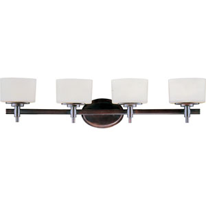 Lola Oil Rubbed Bronze Four-Light Bath Fixture