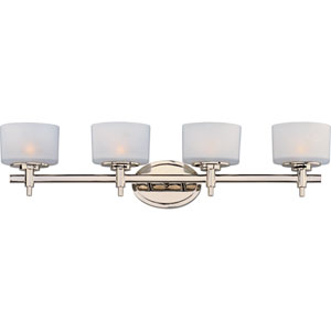 Lola Polished Nickel Four-Light Bath Fixture