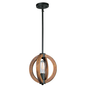 Bodega Bay Anthracite One-Light Mini Pendant with Bulbs