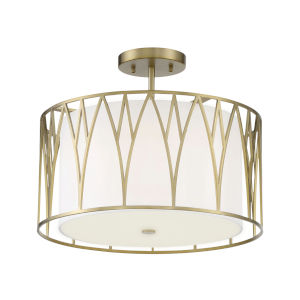 Regal Terrace Soft Brass LED Semi-Flush