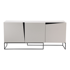 Albion White Six Shelf Sideboard