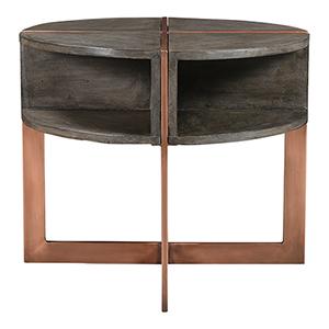 Bancroft Graysolid Mango Wood Four Shelf 20-Inch End Table