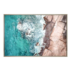 Multicolor 32H x 48W-Inch Birds Eye View Wall Decor Painting