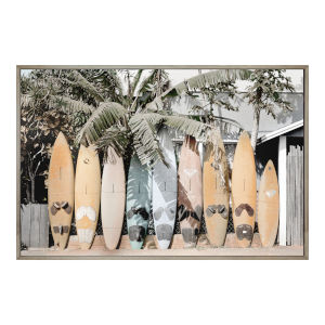 Multicolor  32H x 48W-Inch Surfs Up Wll Decor Painting
