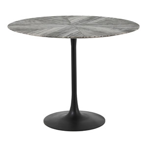 Nyles Grey and Matte Black 39-Inch Dining Table