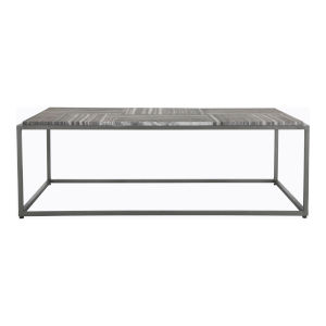 Grey Winslow Rectangular Marble Coffee Table